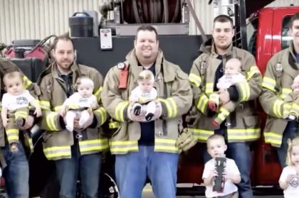 Firefighter Announces He's Going Have A Baby, Then 5 Of His Coworkers Reveal The Same News