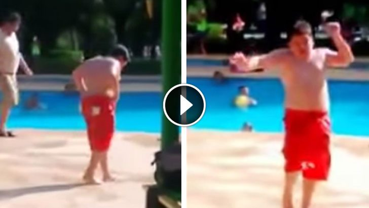 He was just another kid at the pool until they played his for Pool dance show