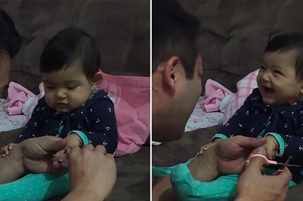 Toddler fake crying
